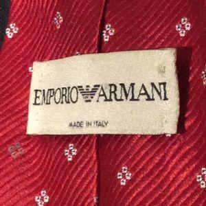 Emporio Armani Accessories - Emporio Armani Red Tie